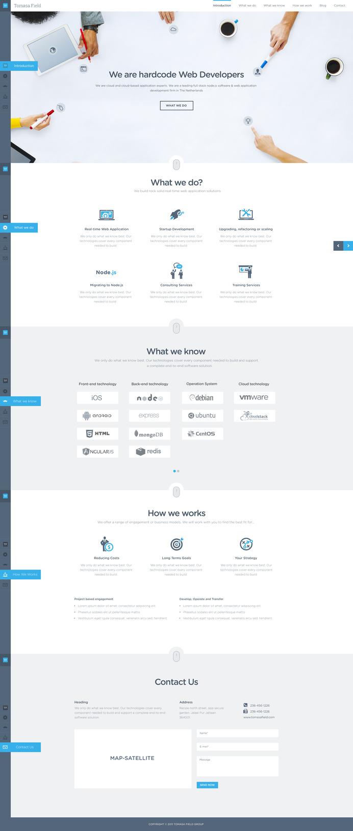 Tomasa Field Website Design by Sunil Joshi #page #site #design #company #web #landing