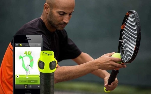Discover your game with the Zepp Tennis. Improve your tennis skills with the app that monitors and tracks your performance. #tennis #skill #design #product #industrial #sports