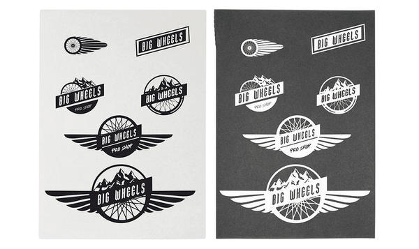 logo Big wheels #wirdstudio #logo #logotype #bike