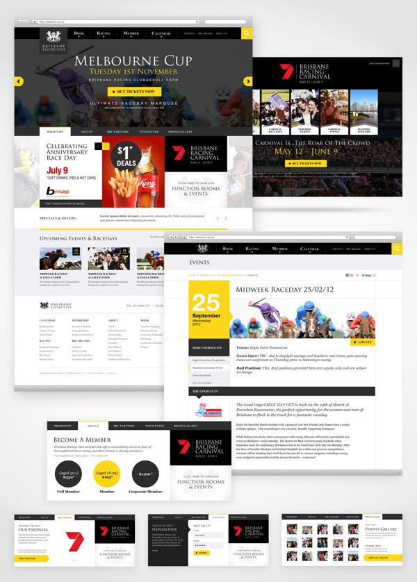 BRC Website on Behance #interface