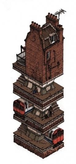 Tumblr #underground #basement #london #tube #illustration