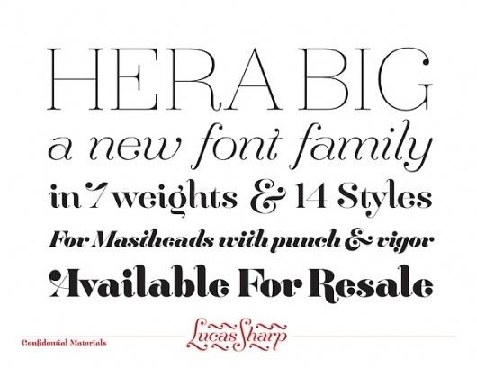 Hera Big - Font Family on the Behance Network #font #hera #sharp #lucas