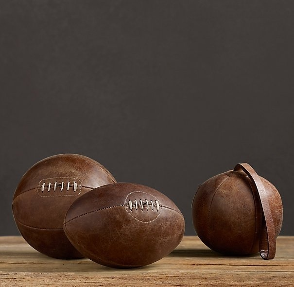 Vintage Leather Sports Balls #tech #flow #gadget #gift #ideas #cool