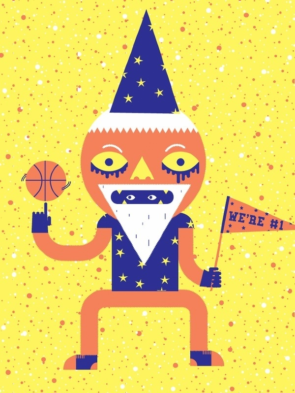Mascot Illustrated Etymology #illustration #colorful #character #basketball