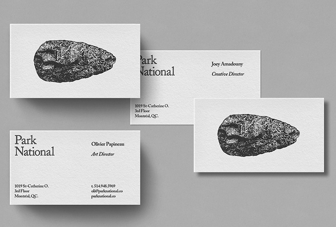 Park National by Michael Mason #business card #print