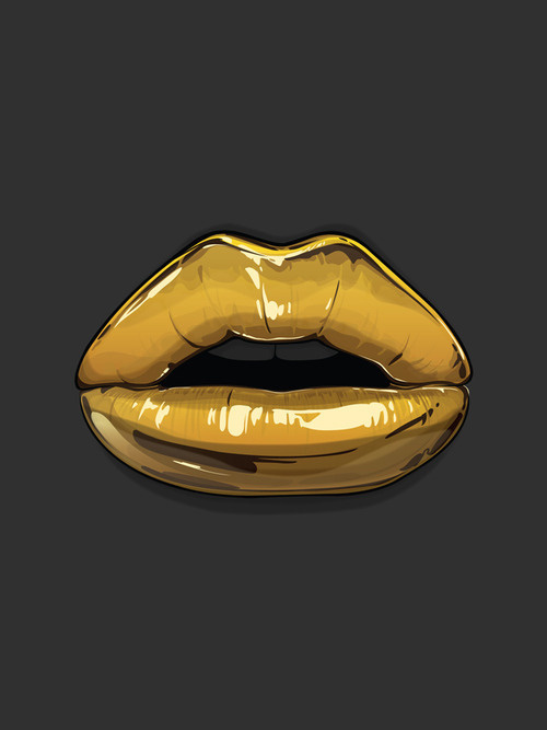 Goldies #lips #tumblr #gold