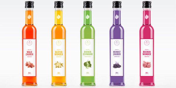 A rainbow of designs. #bottle