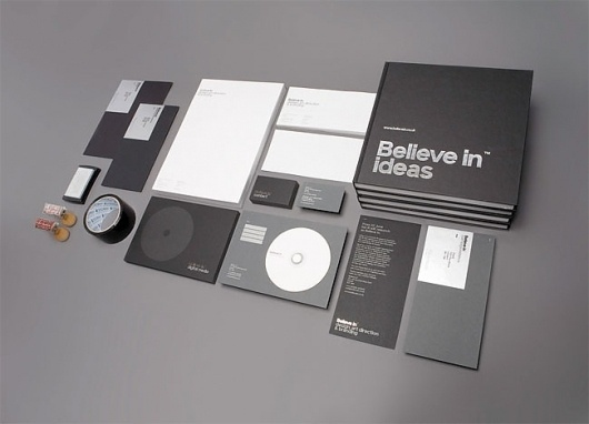 Believe in | Identity Designed #white #silver #print #in #black #believe #grid #identity #stationery #foil
