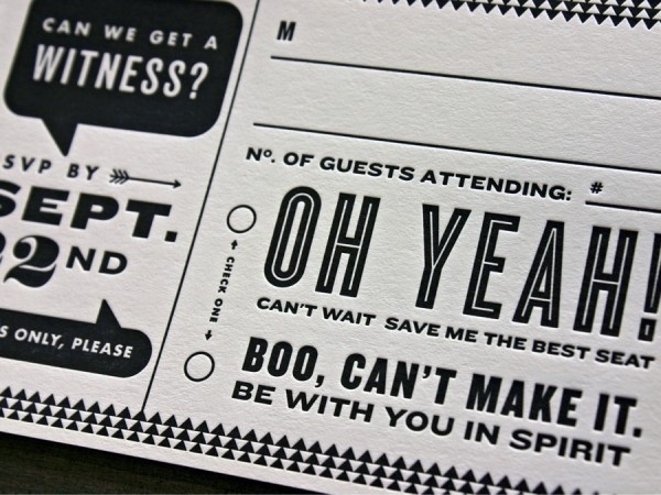 Beast Pieces #invite #reply #letterpress #card