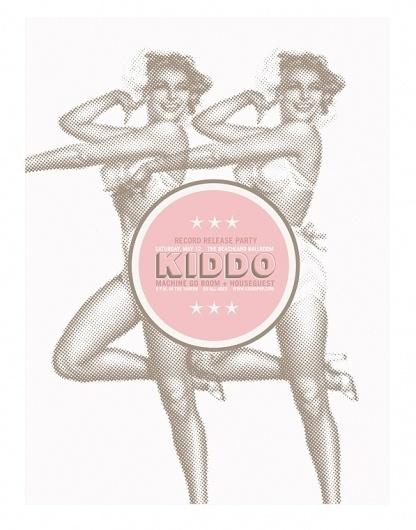 Kiddo Poster on the Behance Network #music #screenprint #poster