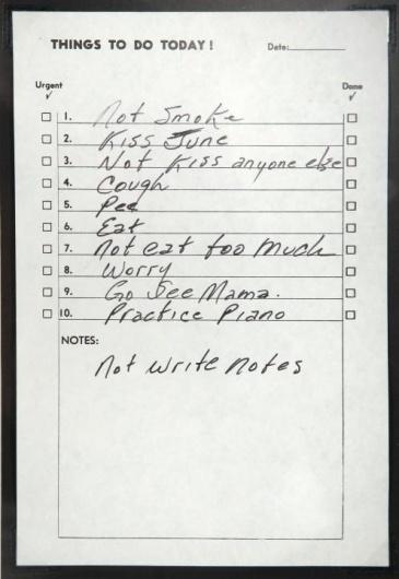 Executive Edits - Content - Johnny Cash To-DoList #music #cash #johnny #list