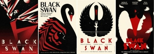 Fonts In Use – Black Swan Movie Posters #illustration #posters #typography