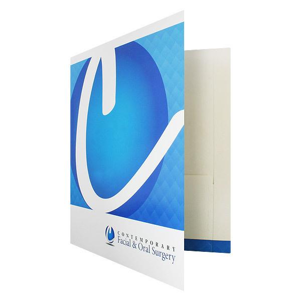 Designer Pocket Folders for Contemporary Surgery (Front Open View) #design #pocket #medical #blue #folder