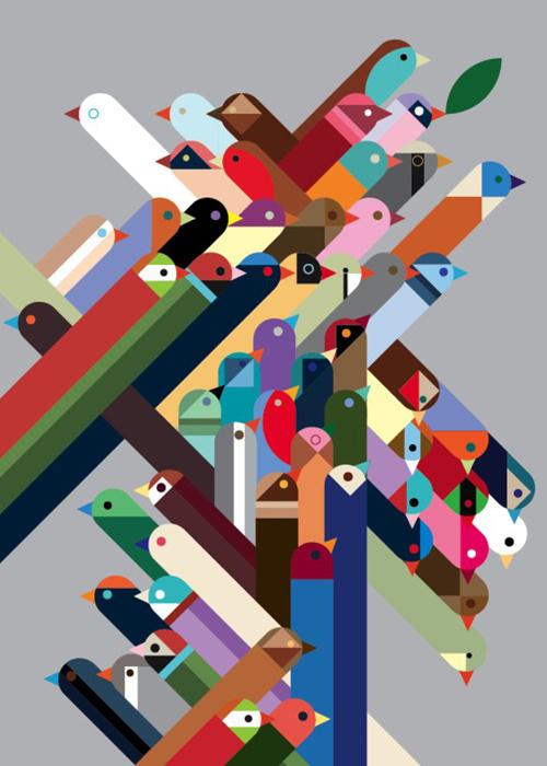 Birds, Rob Bailey, 2010 #illustration