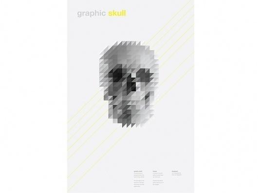 Victor van Gaasbeek • Graphic designer • Illustrator • Graphic Skull #skull #pixels #poster #sliced