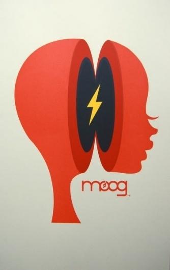 OMG Posters! » Archive » Us & Them's Moogfest Print #illustr #illustration #bolt #silhouette #moog