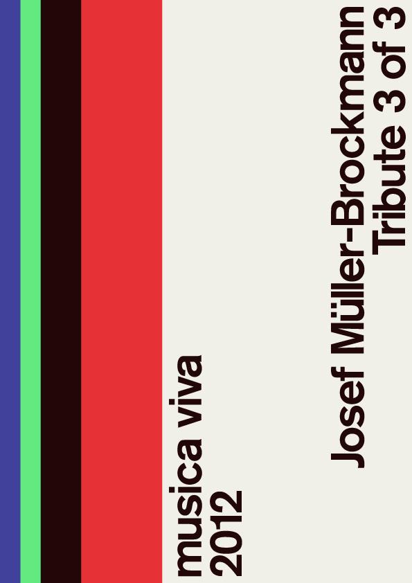 Josef Müller Brockmann poster #swiss #poster