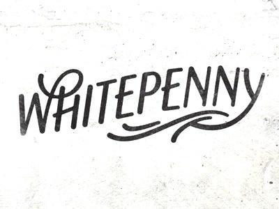 Whitepenny by Simon Walker #lettering #white #penny #simon #walker #typography
