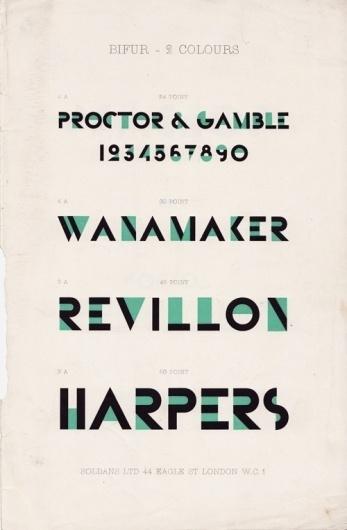 Someblog (or other): Adolphe Mouron Cassandre - Bifur promotional brochure #bifur #cassandre #typeface #am