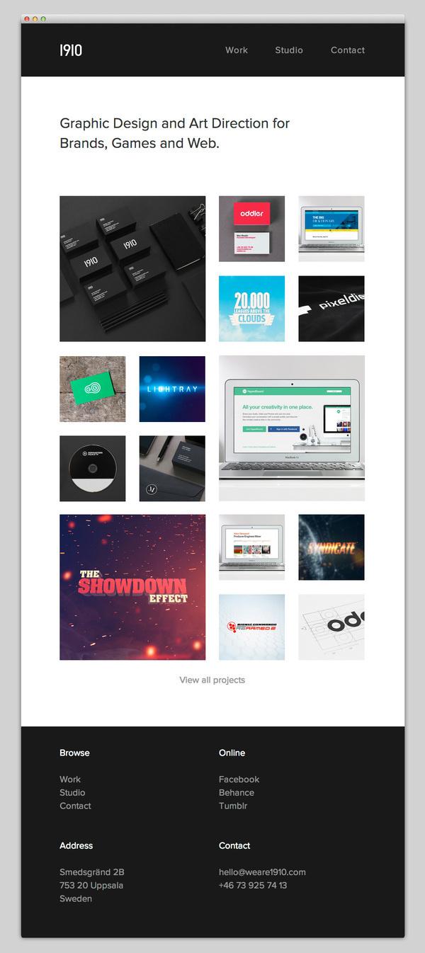 1910 Design & Communication #website #layout #design #web