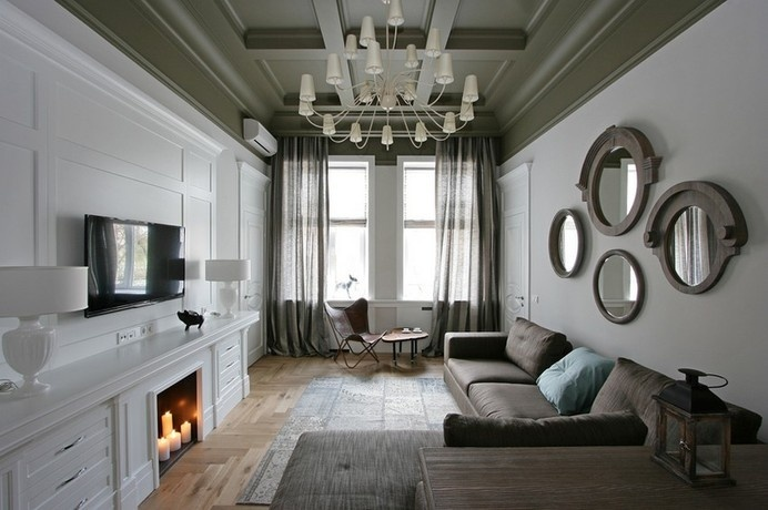 architecture modern home Dnepropetrovsk Eclectic Apartment Design in Ukraine by SVOYA Studio #modern #design #decor #home #apartment