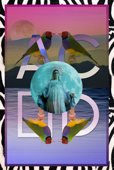 Posters Benny Moore #water #mary #acid #bird #poster #type #colour #moon