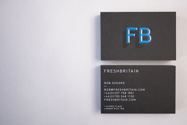 FreshBritain Business Card #card #black #blue #business