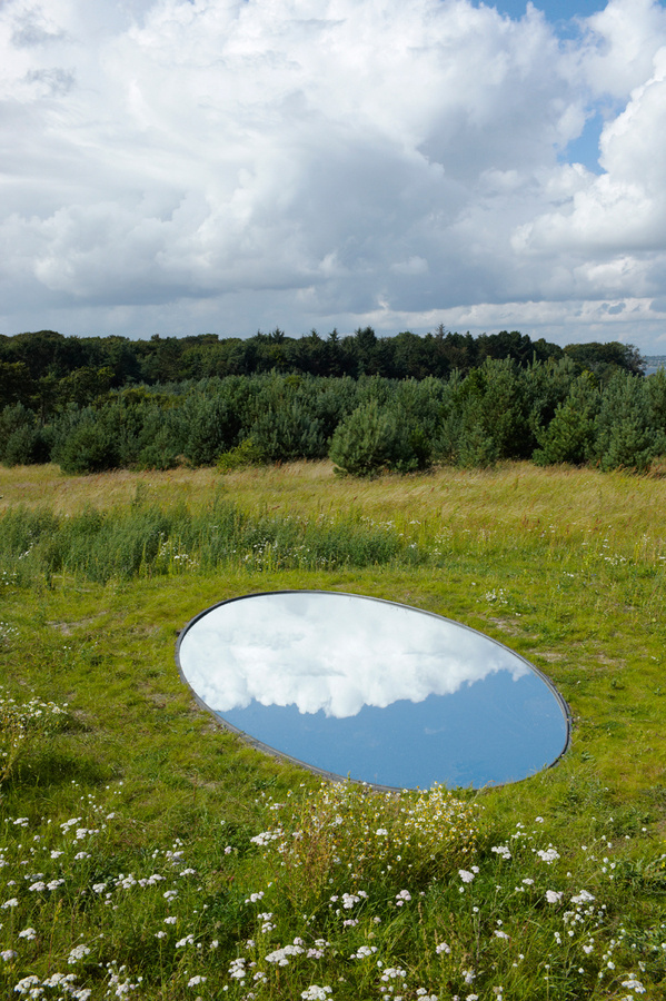 olafur eliasson: your glacial expectations for kvadrat #illusion #sky #installation #glacial #reflect #mirror #photography #outdoor #awesome