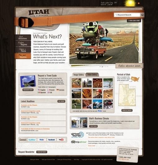 Utah.Travel on the Behance Network