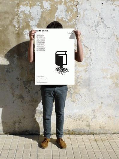 Cartelería Perenne Editorial #branding #gra #design #graphic #grid #system #identity #poster #logo