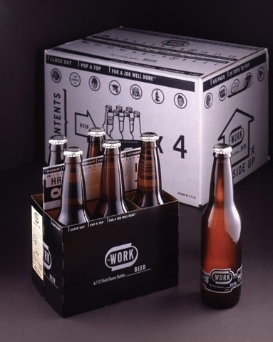 FFFFOUND! | WORK Beer : Lovely Package® . Curating the very best packaging design. #beer #branding #bottle #carton #6 #22oz #identity #logo #pack #work