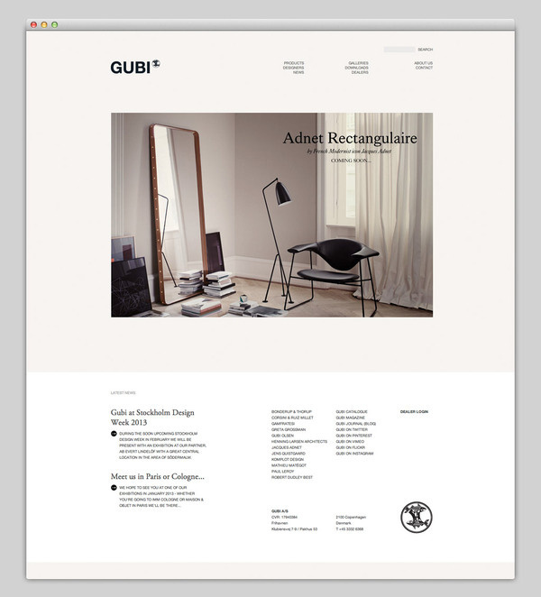 Gubi #website #layout #design #web