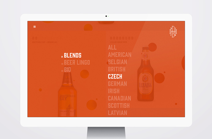 beer, website, design, ux, ui, circles