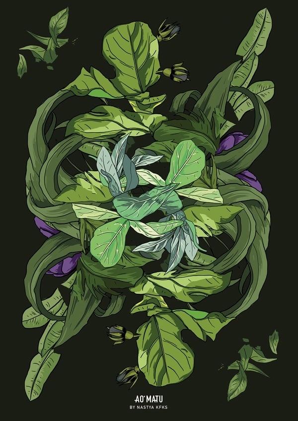 Dark edition print. Wall decor. With #flora, #tropical design by Nastya KFKS. KFKS STORE. #print #poster #design #illustration #patterns