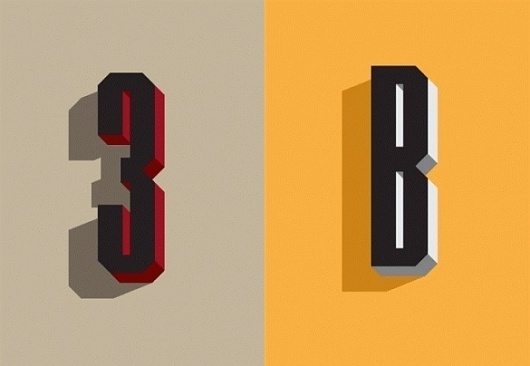 Samuel Clarke / Pinterest. Type. 3D. Orange. Typography. Letterforms #type #wired #magazine #dimensional