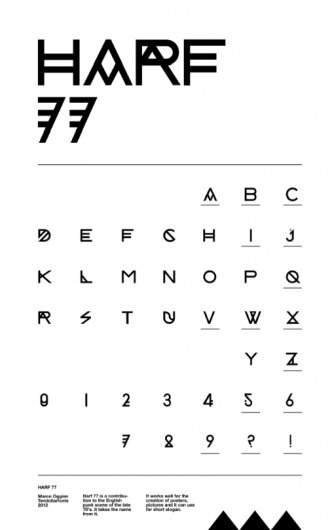 HARF 77 on Typography Served #typography