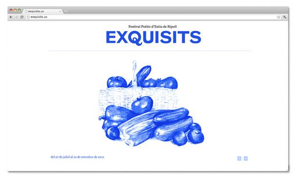 Exquisits Web #blue #illustration #web #exquisits