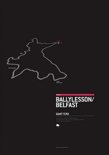 Ballylesson/Belfast cycle route | Flickr - Photo Sharing! #gps #bicycle #design #map #poster #bike #cycling #typography