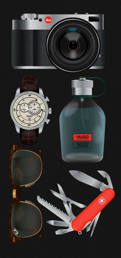 GQ - EDITORIAL on the Behance Network #shaun #products #icons #swainland #illustration