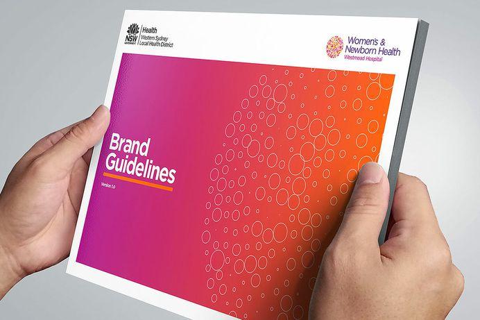 NSW HEALTH WSLHD Women's & Newborn HEALTH #branding #colour #gradient #graphicdesign #design #inspiration #handlebranding#brandguidlelines