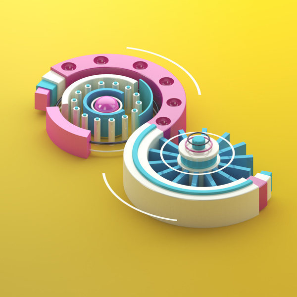 8 - 36 days of type #cinema4d #maxon #c4d #36daysoftype #numbers #type #3d #typography