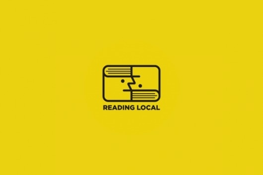 Reading Local on the Behance Network #logotype #colorcubic #trademark #literature #books #brand #reading #logo