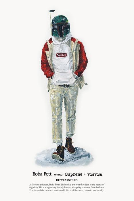HE WEARS IT 05 #wars #illustration #john #star #fashion #woo