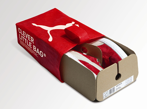 Clever Little Bag - Puma - Sustainable Packaging Design #graphic design #design #packaging #3d