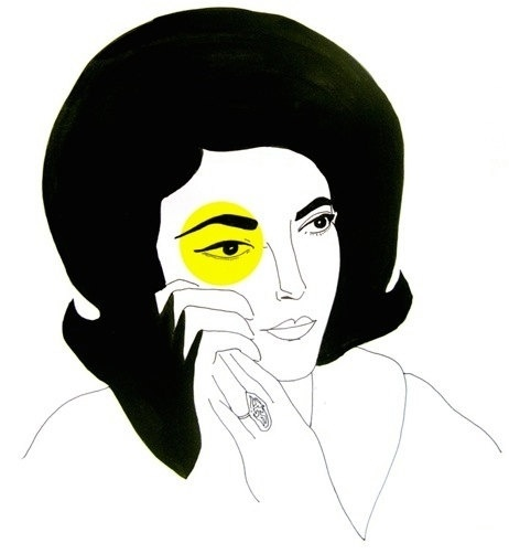 Maria Callas Signed Limited Edition Print by Figure1 on Etsy #yellow #graphic #black #illustration #portrait #maria #callas #lady