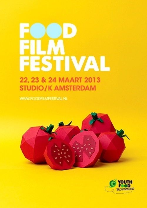 Food Film Festival 2013 Amsterdam #festival #color #food #poster #paper