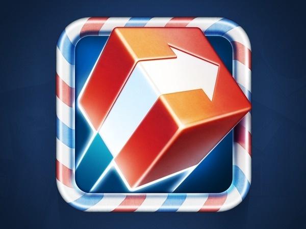 ShipOff App Icon #shipping #icon #ramotion #shipoff #design #delivery #texture #box #app #arrow #ios #mail
