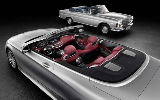 Mercedes-Benz S-Class Cabriolet with the S-Class Cabriolet W 111. #MercedesBenz #SClass #Cabriolet #MercedesBenz