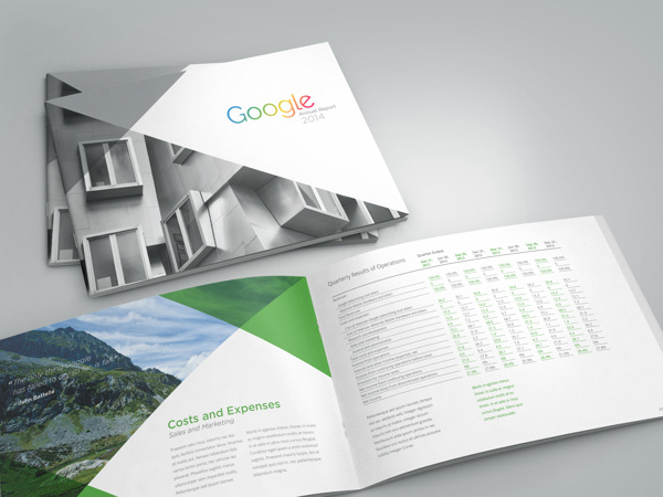Google Annual Report on Behance #annual #report