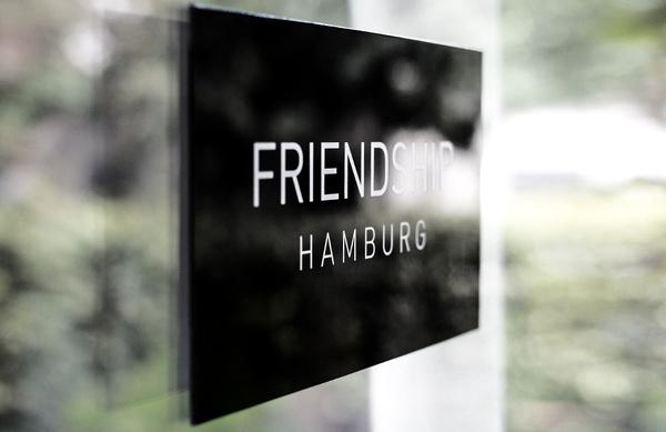 In Friendship we trust! #window #signage #friendship
